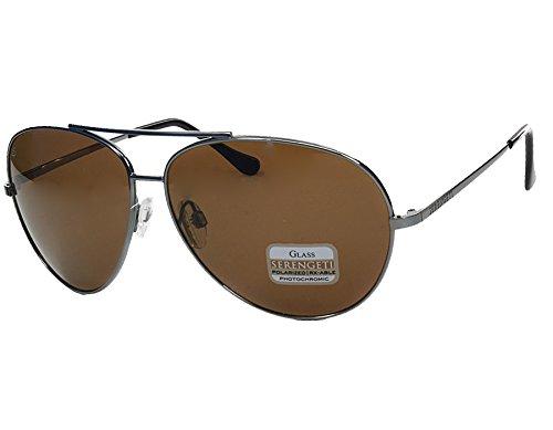 Serengeti Sunglasses Carrara - Shiny Gunmetal / Polarized Glass Driver - Sunglasses Carrara
