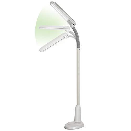 OttLite 24 Watt Craft Plus Floor Lamp Dove Grey