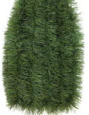 Fix Find - Natural Green Tinsel Garland (18ft Long x 3in Thick) - Elegant Hanging Metallic Holiday Tinsel Garland for Holiday & Party Decorating