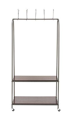 Benzara 92684 Metal Wood Coat Rack, 32''W x 69''H by Benzara