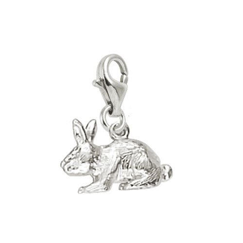 Rembrandt Charms Rabbit Charm with Lobster Clasp, Sterling (Sterling Silver Rabbit Charm)