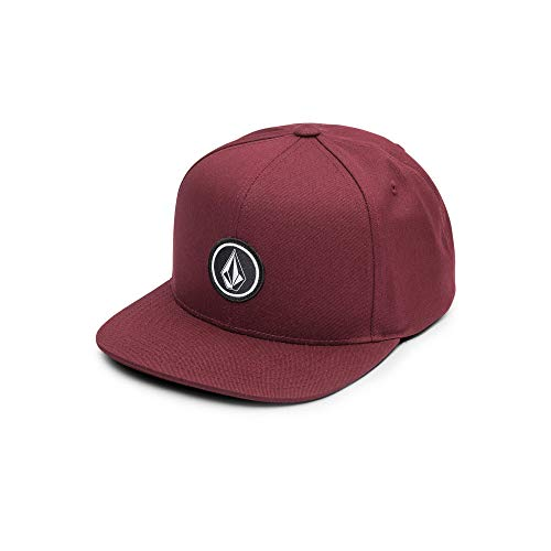 Volcom Big Boys Quarter Twill Hat, Bordeaux Brown, O/S