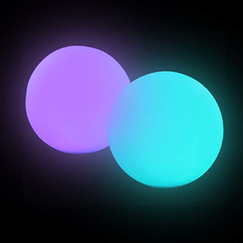 - Fun Central AC811, 6 Pcs, 3 Inches, LED Waterproof Ball Mood Light, LED Pool Ball, LED Glow Balls for Pool,LED Waterproof Ball, Waterproof LED Light Ball