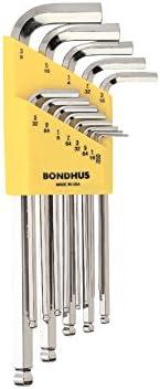longueur courte 5//16/ 16236/Bondhus Mannequin Lot de 12/cl/és coud/ées avec finition briteguard? hexagonale tailles .050