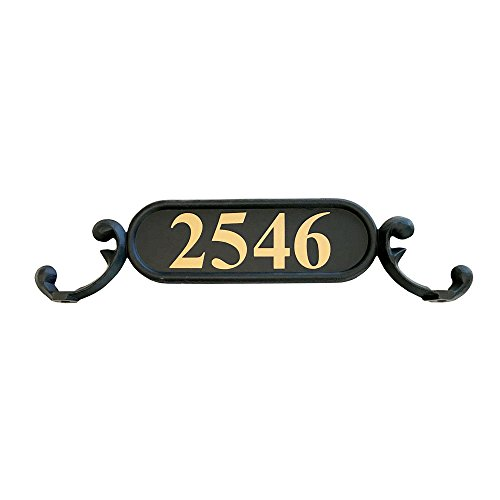 Addresses of Distinction Charleston Mailbox Address Plate – Mailbox Plaque with Gold Reflective Numbers – Customized House Number – Double Sided Address Sign – Rust Proof Aluminum - Hardware Included