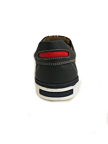 Hombre Náutico Hombre para para Náutico Tallas Zerimar de Zapato Azul Piel Grandes Marino 6HxqXw