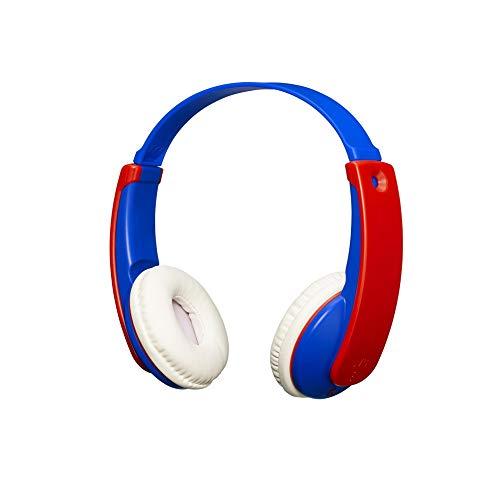 JVC TinyPhones Kids Wireless Bluetooth Headphones with Volume Limiter, Blue/Red