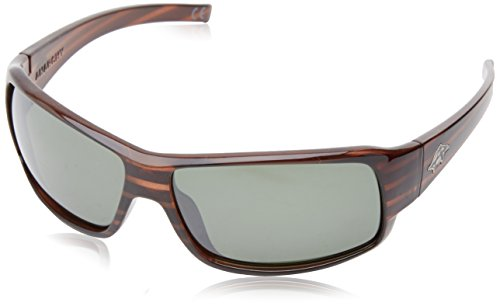 Anarchy Men's Buster Polarized Rectangular Sunglasses,Brown Demi,63.5 - Sunglasses His Hers And