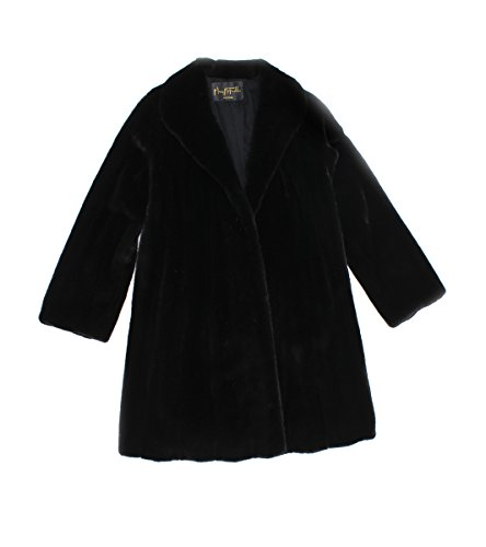 513452 New Mary McFadden Natural Ranch Female Mink Fur Stroller Coat Jacket 16
