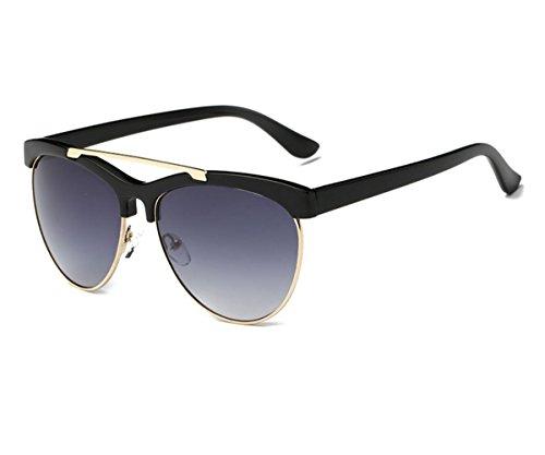 Konalla Womens Half Frame UV-400 Flash Mirror Fashion Sunglasses - Shell Turtle Ray Bans