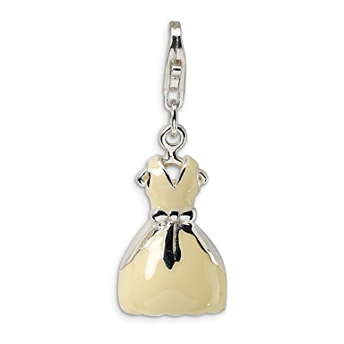 925 Sterling Silver Rh 3 D Enameled Dress Lobster Clasp Pendant Charm Necklace Fine Jewelry Gifts For Women For Her]()