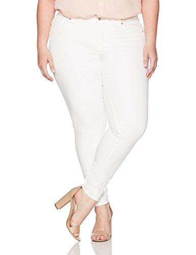 Denim Crush Womens Embrace Jean Plus Size White 16