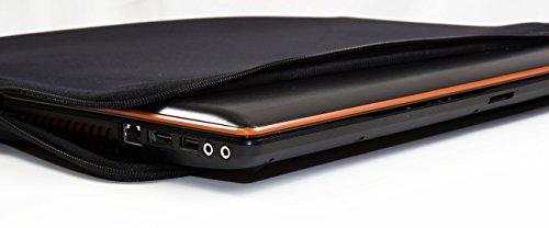 Luxburg® Design Laptoptasche Notebooktasche Sleeve für 15,6 Zoll, Motiv: Sakura pink