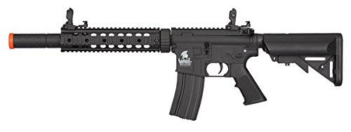 (Lancer Tactical Low FPS M4 Gen 2 AEG Electric Airsoft Rifle Gun - Black)
