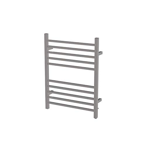 Amba RSWH-P Hardwired Radiant Square Towel Warmer, Polished - Heated Curved Towel Rack