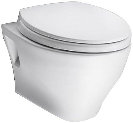 TOTO CT418F01 Aquia Wall Hung Dual Flush Toilet Bowl Cotton White
