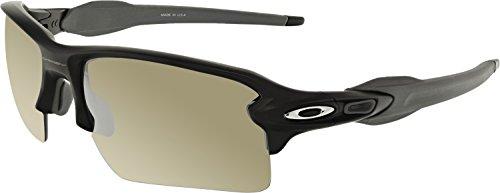 Oakley Men's Flak 2.0 Xl Polarized Iridium Rectangular Sunglasses, Matte Black, 59 - Iridium Lenses Oakley Chrome Polarized