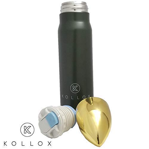 Kollox Bullet, Stainless Steel, Water Bottle, Coffee Mug, Thermos, Vacuum Insulated Double Wall, Keeps Liquid Hot or…