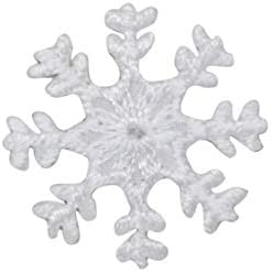 Iron on White Snowflake Applique Patch