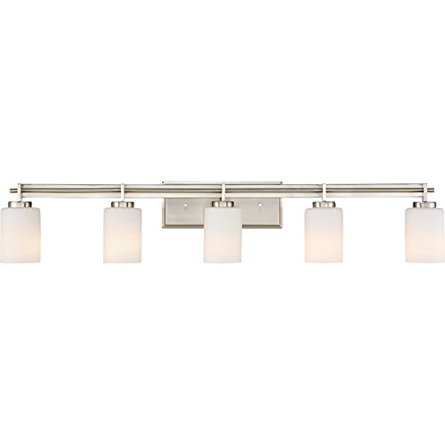 Quoizel TY8605BN Taylor Bath Vanity Wall Lighting, Lights 5-Light, 500 Watts, Brushed -