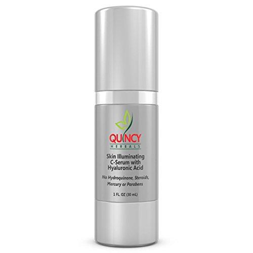 Skin Illuminating Vitamin C Serum with 1% Hyaluronic Acid, Arbutin Glycolic Acid Licorice, Ferulic Acid. Targets Dark Spots, Wrinkles & - Quincy Target