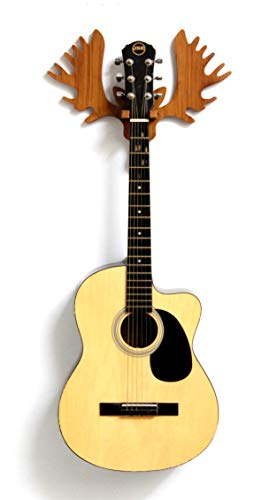 Hype String Guitar Wall Hanger || Wooden Guitar Wall Hanger/Stand – Reindeer Horns Design || For Acoustic,Electric Guitars and Ukulele ||