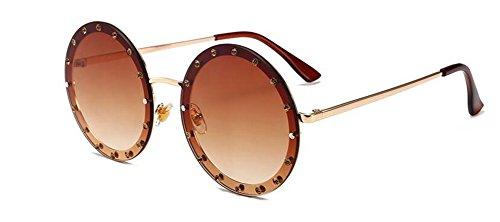 inspirées du métallique rond soleil cercle en vintage style de polarisées lunettes retro Lennon PAtwIUq7x