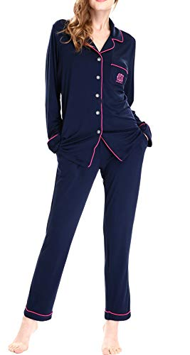 Womens Loungewear Sets Underwear and Top Knit Sleepwear Pajama by Nora Twips(Dark Blue,XL)]()