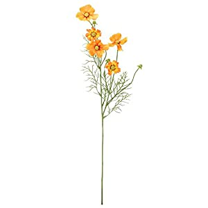 "28"" Orange and Yellow Artificial Cosmos Inspired Floral Spray 40"
