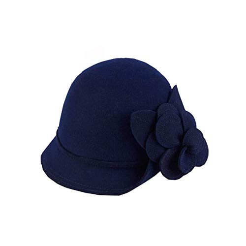 Qkefegfkgr Dome Flower Embellished Hat, Ladies Hat, Small Pelvic Hat, Wild Style, Casual Wear for Students (Color: A) (Color : A, Size : -)