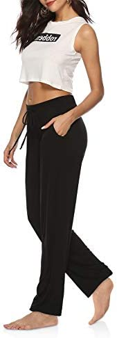 DIBAOLONG Womens Yoga Pants Wide Leg Comfy Drawstring Loose Straight Lounge Running Workout Legging