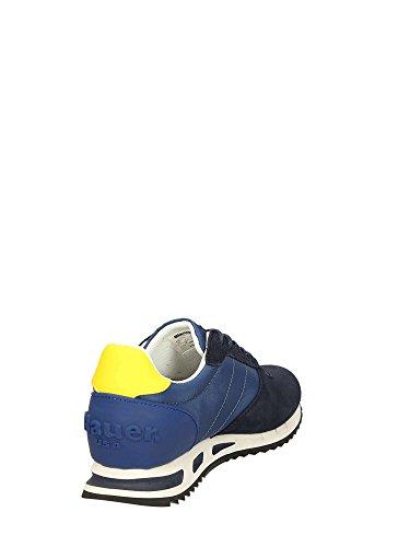 Scarpe Da Uomo Blu 8smemphis05 / Nyl E Sneakers In Pelle Scamosciata E Nylon *