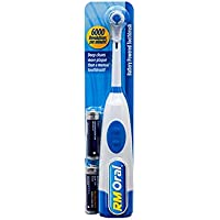 Rm Oral Battery Powered Toothbrush With Batteries, White