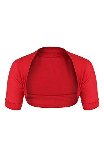 AO-Bolro-lastique--manches-courtes-Taille-S-L-rouge