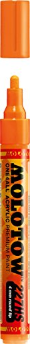 One4All Acrylic Paint Markers 4 mm neon orange fluorescent 2