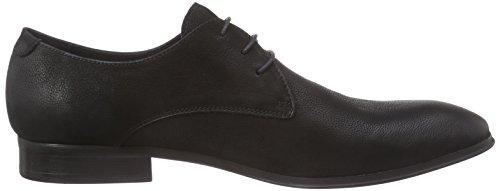 Belmondo 75219201 - zapatos con cordones de cuero hombre negro - negro