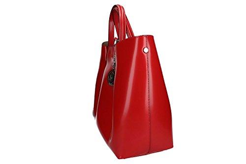Tasche damen mit schultergurt PIERRE CARDIN rot leder Made in Italy VN1143