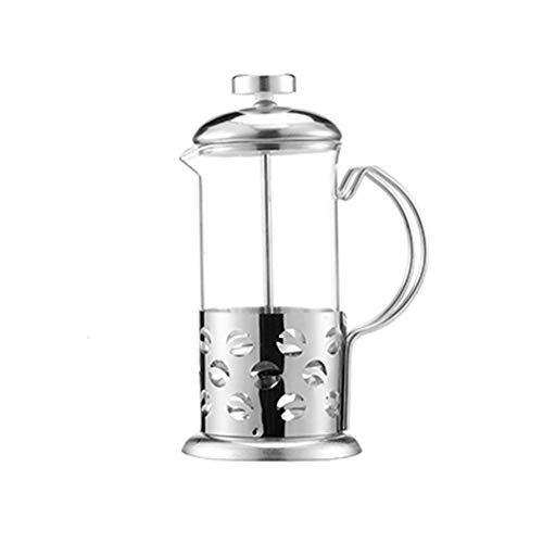 Tea Kettle Espresso Maker Pot French Press Manual Coffee Maker Coffee Tea Percolator Filter Stainless Steel Glass Teapot Cafetiere Press Plunger (Color : Beans patern)
