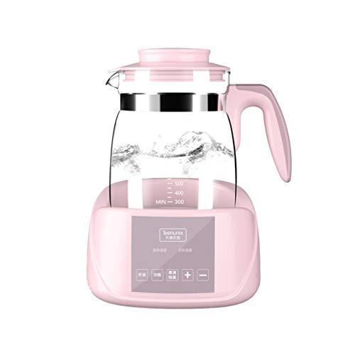 HTTDIAN Mezclador de Leche con termostato, Caldera de Vidrio, máquina para Hacer Espuma con Leche para bebés, Caldera...