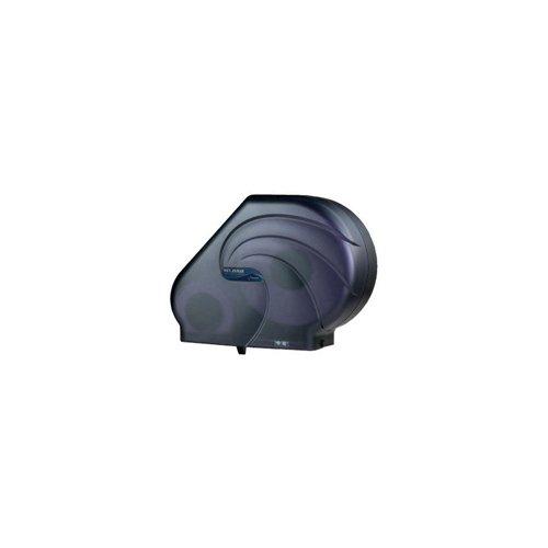 San Jamar Oceans Reserva Jumbo Tissue Dispenser w/Stub, 16-3/4x5-1/2x12-1/4, Black Pearl - BMC-SAN R3090TBK by Miller Supply Inc