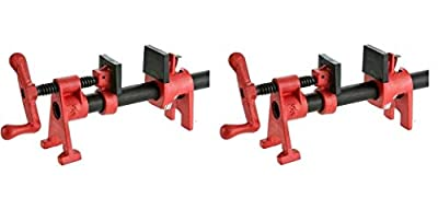 Bessey BPC-H34 3/4-Inch H Style Pipe Clamp (Pack of 2)