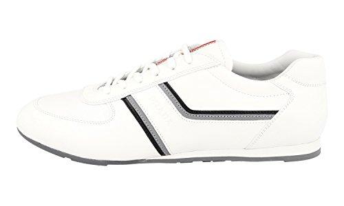 Prada Homme 4e2735 O3y F0964 Sneaker En Cuir
