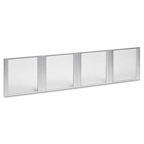 Alera ALEVA301730 Glass Door Set With Silver Frame For 72'' Wide Hutch, Clear (Set of 4 Doors) by Alera