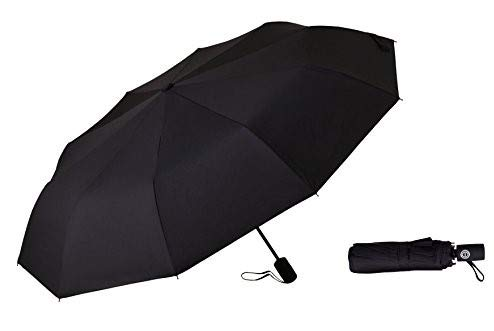 (Compact Windproof Travel Umbrella with Auto Open and Close Button)