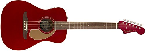 Fender Malibu Player - California Series Acoustic Guitar - Candy Apple Red