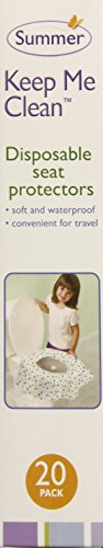 Summer Keep Me Clean Disposable Potty Protectors Travel Pack, 20-Count