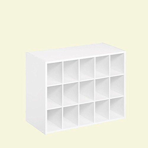 ClosetMaid White Laminate 15-Cube Organizer | 24 in. W x 19 in. H
