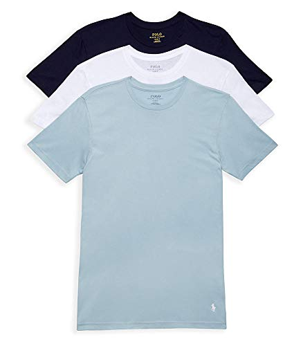 Polo Ralph Lauren Classic Fit Cotton T-Shirt 3-Pack, M, Navy/Blue/White
