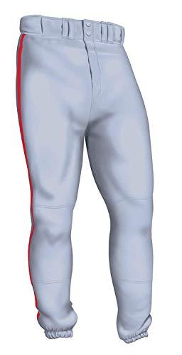 Easton Pro Pipepant, Gray/Red, Medium