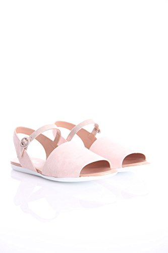 with Ankle Mujer Sandal Flat Pink Strap AS81xS